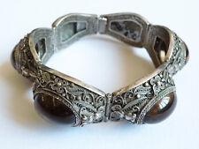 Bracelet argent massif + quartz Chine 19e siècle China silver bracelet chinese