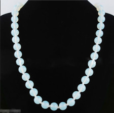 "Fashion Handmade 10mm Natural Opal Round Gemstone Beads Necklace 18"" AAA"