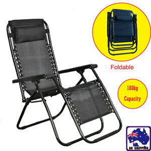 Zero Gravity Recliner Reclining Lounge Folding Outdoor Camping Chair HDE300005
