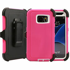 Samsung Galaxy S7 Edge Case (Belt Clip Fits Otterbox Defender) Rugged Cover