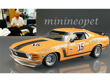 ACME 1970 FORD MUSTANG BOSS 302 TRANS AM CHAMPION #15 1/18 PARNELLI JONES SIGNED