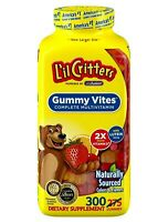 🔥 L'il Lil Critters Gummy Vites 300 Gummy Bears ** Complete Multivitamin ** 🔥