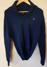 MENS GANT WOOL SHAWL NECK NAVY JUMPER/SWEATER SIZE SMALL CHEST 40-41
