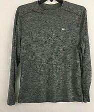 Sb Tech Training Cool Play Mens Shirt Size L Long Sleeve Gray Polyester