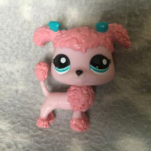 Littlest Pet Shop #1956 pink poodle blue bow eyes