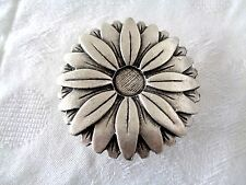 Unique Sunflower Belt Buckle - Silver Plated - European - Brand New