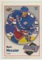 MARK MESSIER ~ Hockey Heroes ~ 2009-10 Upper Deck #HH26 ~ New York Rangers