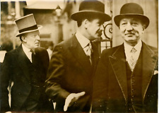 Londres, Sir Robert R.Vansittart, Anthony Eden, YvonDelbos Vintage silver print
