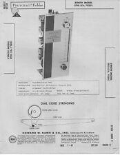 1961 ZENITH ET10 RADIO SERVICE MANUAL SCHEMATIC REPAIR DIAGRAM PHOTOFACT