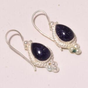 "Blue Sun Sitara Handmade Fashion Ethnic Jewelry Earring S-1.90"" MXE-846"