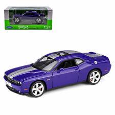 Welly 1:24  2012 Dodge Challenger SRT Diecast Model Car Purple