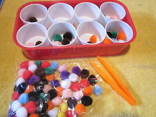 Fine Motor Tweezer Sorting Activity Occupational Therapy Montessori Autism Color