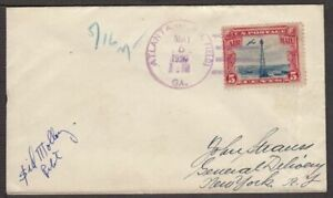 1928 First SUNDAY Airmail Flight May 5th CAM-19 pilot Sid Molloy signed (K