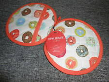 Opalhouse Donut Pot Holder Oven Mitts Set Orange Set of two - New with tags!