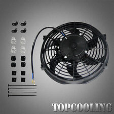 Universal 10 Inch 12V/24V Electric Radiator Cooling Thermo Fan + Mounting Kits