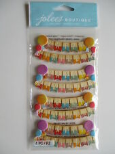 Jolee's Boutique 3D Stickers - Happy Birthday Banners - party