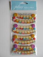Jolee'S BOUTIQUE Pegatinas 3D-Feliz Cumpleaños Pancartas-Party