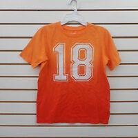 Boys Lands' End Size 10-12 & 14-16 Orange Short Sleeve Shirt