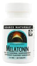 Source Naturals Melatonin Sublingual Peppermint 2.5 mg 60 Lozenges