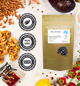 Whole Chai Seeds 100g -  Raw High Protein - Vegan Friendly by Fitness Health®