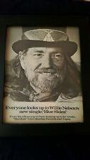 Willie Nelson Blue Skies Rare Original Promo Poster Ad Framed!