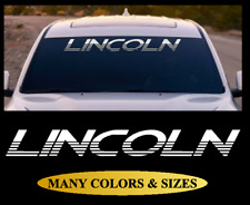 LINCOLN TEXT Windshield Banner Vinyl Decal Sticker Fits Ford Cars & Trucks