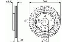 BOSCH Disco de freno (x2) 300mm ventilado RENAULT CLIO VOLKSWAGEN 0 986 479 644