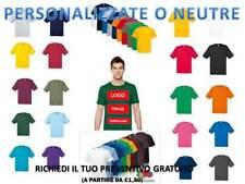 T-Shirt Maglietta Manica Corta Cotone Uomo Fruit Of The Loom  Personalizzabile