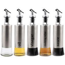 Stainless Steel Olive Oil Vinegar Sauce Dispenser 300ml 500ml Oil Bottle Kitchen