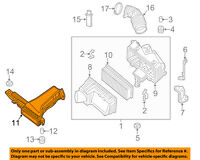 Genuine Nissan Air Box Intake Inlet Duct 16554-3S51A
