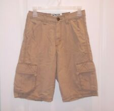 Baileys Point Boy's Size 14 Beige Adjustable Waist Cargo Shorts