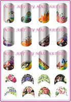 Nail Art Water Transfer Stickers-Decals FRENCH Tattoo Adesivi per Manicure!!!