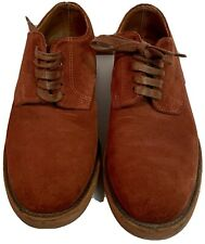 Walk-Over Red Leather USA Vibram Soles Oxford Comfort Casual Shoes Size 9.5 M