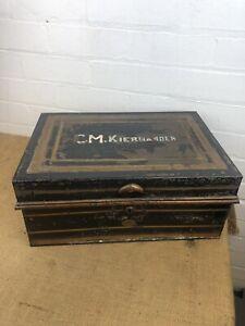 Antique Anglo-Indian Diamond Dispatch Box, Allibhoy, Vallijee & Sons, Toleware