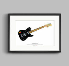 Thom yorke's 1972 deluxe telecaster guitar poster art a2 size