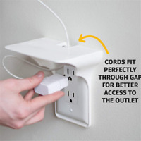 2019 Ultimate Outlet Shelf Easy Installation Wall Outlet Shelf Power Perch Shelf