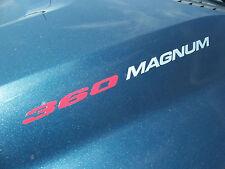 360 MAGNUM  - DECALS Sticker Hood Fender Tailgate emblem style logo Dodge Ram