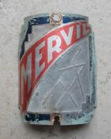 Vintage Bicycle Head Badge MERVIL France Antique Cycles Bike French