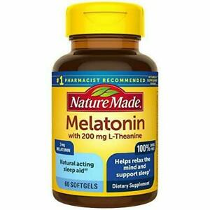 Nature Made 3 mg with 200 mg L-theanine Softgels, 60 Count