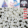 Round UV Resin Imitation Pearl Beads No Hole Loose Beads DIY Jewelry Making ~