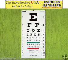 Snellen's Distance Vision Eye Chart 20 Ft Ship from USA within 1 Business Day