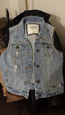 Abercrombie And Fitch Ladies Distressed Denim Vest Size M New Unworn waistcoat