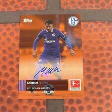 Topps Stars der Saison / Bundesliga - Mark Uth Auto /5 - Schalke 04 - Autogramm