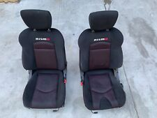2009-2013 NISSAN 370Z NISMO Z34 LEFT AND RIGHT SEAT SET CLOTH MANUAL OEM 09-13