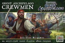 28mm Frostgrave Ghost Archipelago Sailors, Multipose Pirate Figures, Skirmish