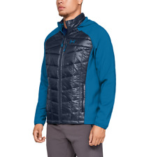 $190 Under Armour Men's Encompass Hybrid Winter Jacket Insulated Blue Size Large