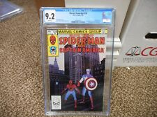 Marvel Team Up 128 cgc 9.2 Captain America Spiderman PHOTO cover 1983 WHITE pgs