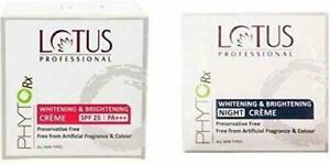 Lotus Professional Phytorx Whitening & Brightening Day & Night Creme (Set Of 2)