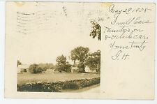 Taunton Farmstead RPPC Antique Massachusetts Photo—Stone Wall ca. 1908