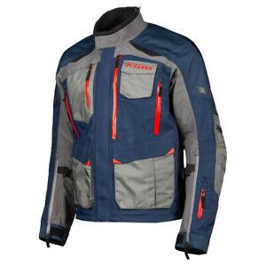 KLIM Sample Carlsbad Adventure Motorcycle Jacket Men's Large - Navy Blue-Redrock